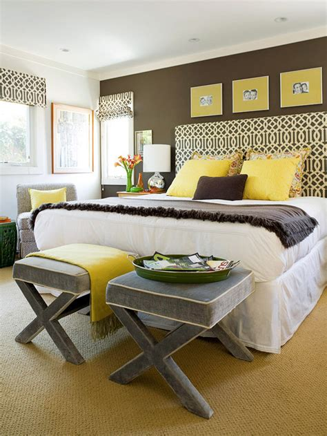 Grey Yellow Bedroom by Yellow And Gray Bedroom Contemporary Bedroom Bhg
