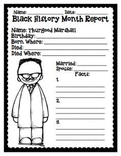 Black History Month Report Outline by Black History Month On Martin Luther King George Washington Carver And Garrett
