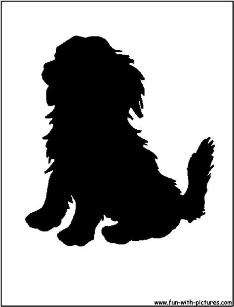 puppy silhouette golden retriever silhouette