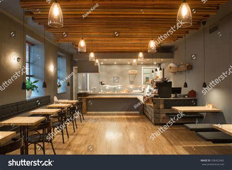 restaurants interior design photos interior of restaurant wooden design stock photo