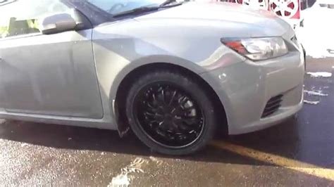 2013 scion tc black rims hillyard custom tire 2013 scion tc rolling on 18 quot matt