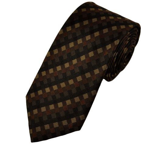 brown pattern tie black brown beige diamond patterned silk tie from ties
