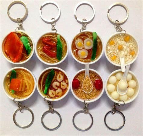 Bowl Food Key Chain Gantungan Kunci Small 6 Pcs artificial food keychain mini pendant mobile phone chain