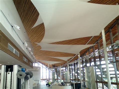 How To Put Fabric On Ceiling by Interior Fabric Structures Ceilings Screens Sunscreens