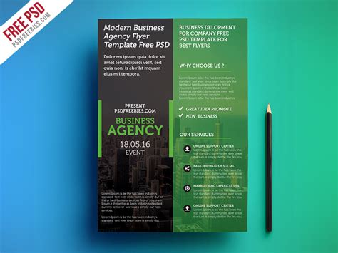 Freebie Modern Business Agency Flyer Template Free Psd By Psd Freebies Dribbble Ad Template Psd Free