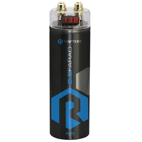 farad audio capacitor mid series 2 5 farad capacitor digital top r4cap raptor car audio installation accessories