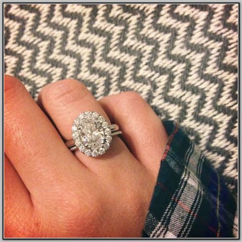 Dainty Engagement Ring Diana Engagement Ring Do by I Need Wedding Band Help Oval Halo Weddingbee