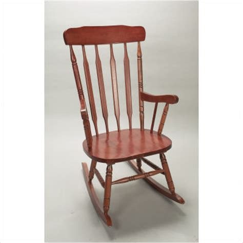 Rocking Chair For Adults by Deluxe Spindle Rocking Chair In Cherry Traditional