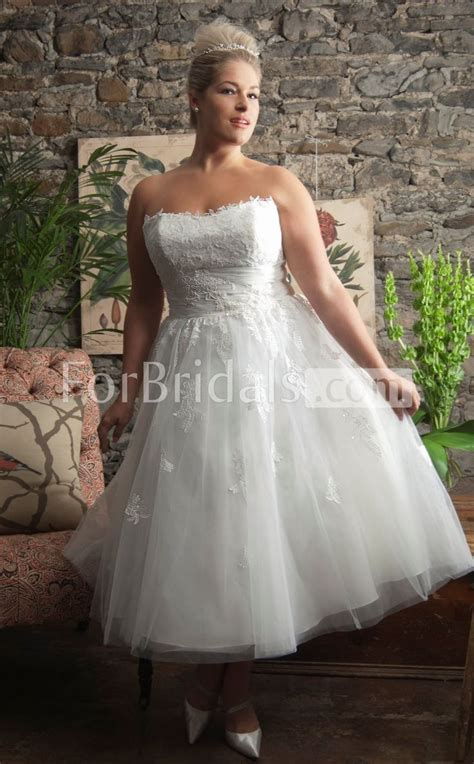 78 Best images about Short Plus Size Wedding Dress on