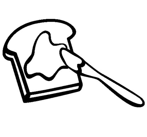 Colored Page Toast Painted By Bread Bread Coloring Pages