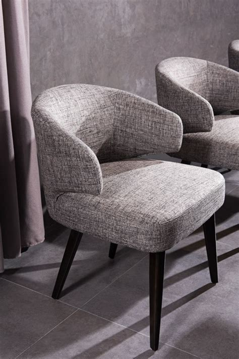 Grey Fabric Dining Room Chairs Modrest Carlton Modern Grey Fabric Dining Chair Dining Chairs Dining Room