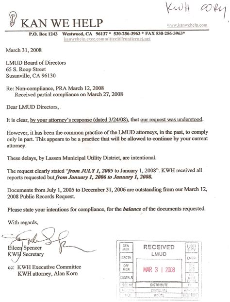 Response Letter To Non Compliance New Page 10 Kanwehelp