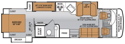 class a diesel pusher with bunk beds 2015 thor palazzo 33 3 floor plan