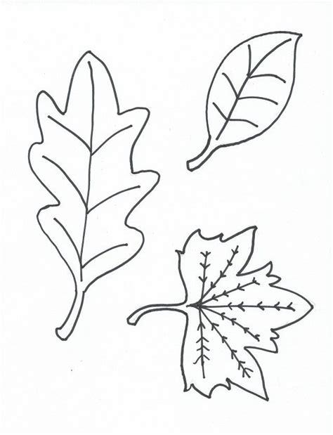 oak leaf stencil printable coloring home