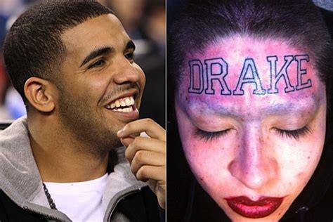 drake tattoo girl update woman gets drake tattooed on her forehead artist speaks out