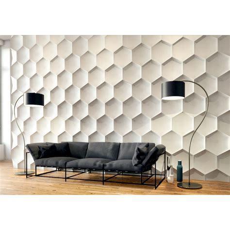 3d Wall Panel hexagon gypsum plaster 3d wall panels