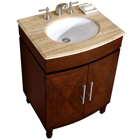 Bathroom Design 26 Quot Travertine Stone Top Single Bathroom Bathroom Sink Cabinet Plans