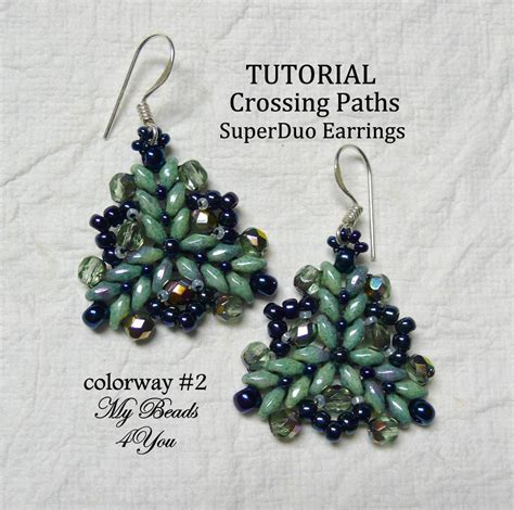 free patterns using superduo beads superduo crossing paths colorway 2 by my beads 4 you craftsy