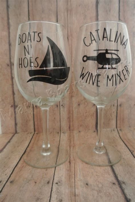 boats n hoes catalina wine mixer step brothers gift set catalina wine mixer wine glass