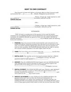 rent to buy contract template best photos of lease to own agreements rent to own