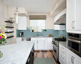Blue Tile Backsplash Kitchen Kitchen Backsplash Ideas A Splattering Of The Most Popular Colors