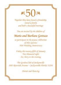 50th wedding anniversary program anniversary invitation style ap 010