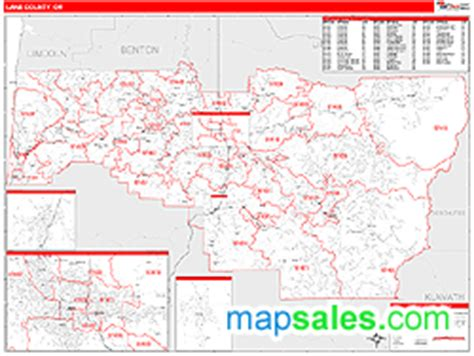 map of eugene oregon zip codes county or zip code wall map line style by marketmaps