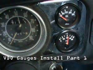 vdo oil pressure amp temp gauge part 1 youtube