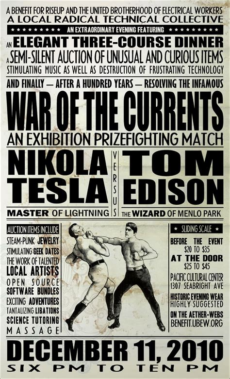 Nikola Tesla Poster An Evening Of Extraordinary Proportions Announcements And