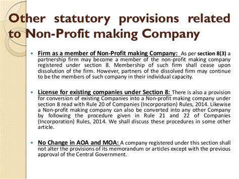 section 10 companies act section 8 of companies act 2013