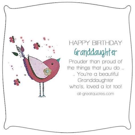 Birthday Quotes For A Granddaughter Happy Birthday Granddaughter Prouder Than Proud Nice