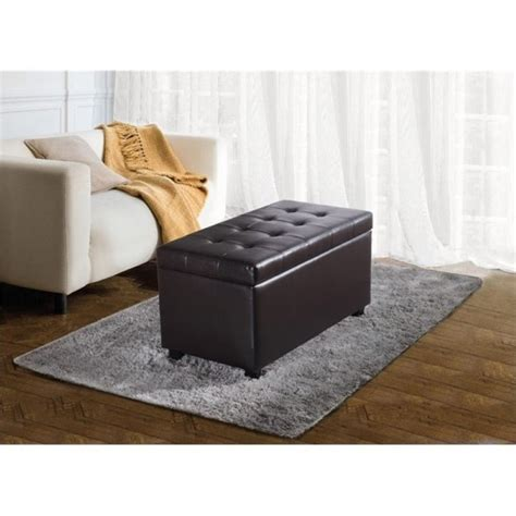 storage benches for living room faux leather storage bench in brown s 38