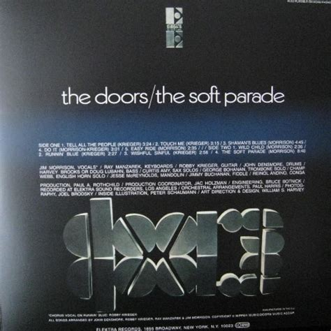 The Doors The Soft Parade by The Soft Parade By The Doors Lp With Kroun2