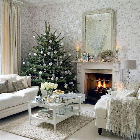 white christmas lounge interior design ideas