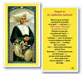 st catherine laboure laminated prayer card new catholic miraculous medal ebay