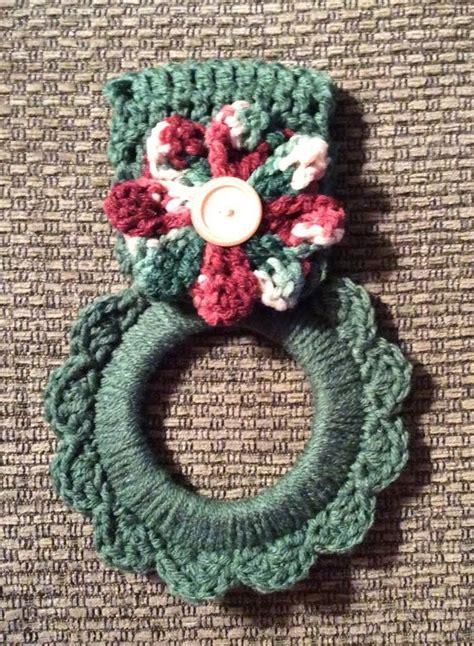 pattern crochet dish towel holder free crochet patterns for kitchen towel holders