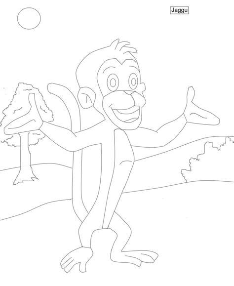 chhota bheem coloring pages games jaggu chhota bheem character coloring page