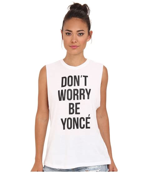 Dont Worry Be Yonce haute buy stylestalker don t worry be yonce tank what s