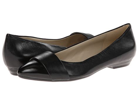 N5 Comfort System by Naturalizer Black Leather Shiny Shipped Free At