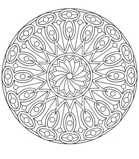 Simple Design Mandala Coloring Pages Batch Coloring Sun Moon Mandala Coloring