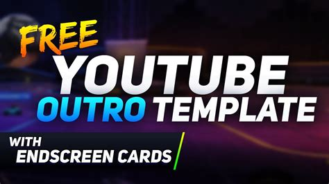 outro card template free outro template w end screen card link in