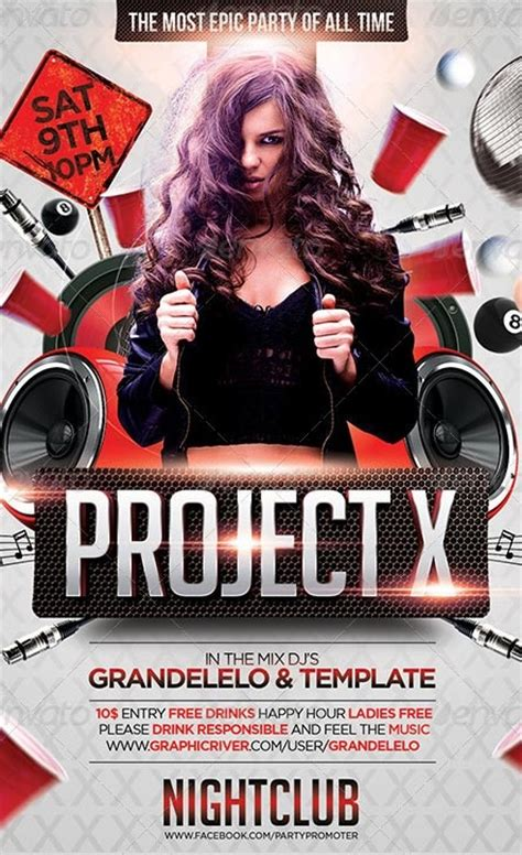 club flyers template project x club and flyer template http