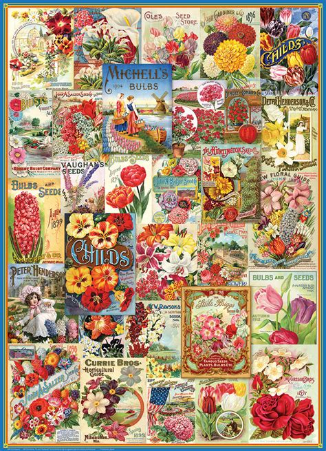 vintage seed catalogue collection