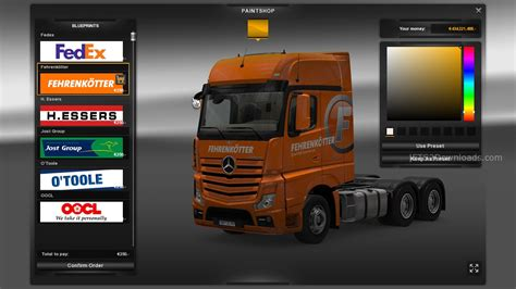 Southern Home Interiors Real Logistic Skin Pack For Mercedes Benz Actros Mpiv