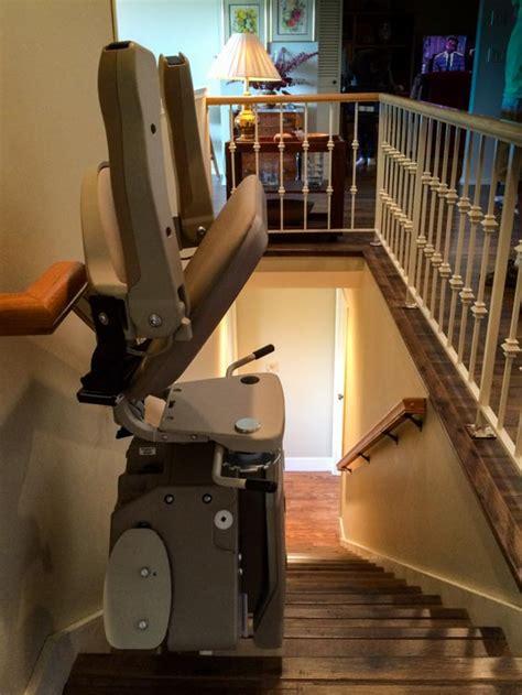 bruno stair lift bruno elan stairlift on hardwood stairs vancouver wa