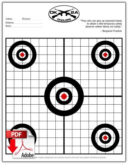 printable 11x17 targets printable shooting targets oklahoma 2nd amendment