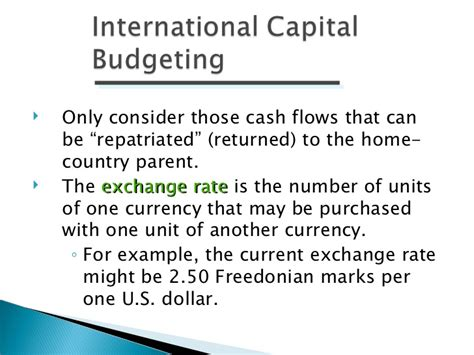 Capital Budgeting Project For Mba Finance by International Financial Management Ppt Bec Doms Bagalkot