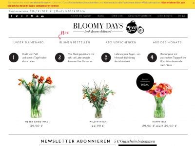 Bloomy Days Gmbh by Bloomy Days Gutschein Juli 2018 10 Gutscheincode
