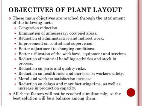 plant layout meaning and objectives chapter 2 plant location