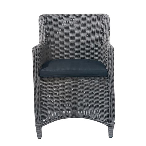 Outdoor Wicker Armchairs by Wicker Garden Armchair In Taupe Palerme Maisons Du Monde